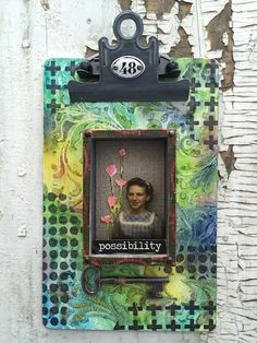 One lucky Day: Tim Holtz Mini Clipboard mixed media