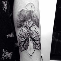 Anatomical lung tattoo