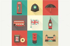 Check out London vector icons by vectorprro on Creative Market