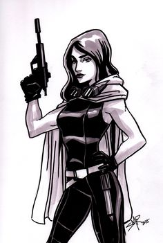 Inktober #10: Mara Jade Skywalker.One of the things I'll be most upset with in the retcon of the Star Wars Expanded Universe is that the Hand of Thrawn series http://stephaniemccrea.tumblr.com/post/130920447165/inktober-10-mara-jade-skywalker-one-of-the