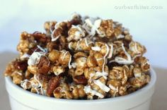 Cinnamon Bun Popcorn...Someone just dropped some of this off at our house and it is AMAZING...and I spent 30 minutes finding out what the recipe was...