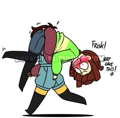 Image result for chara x frisk fluff