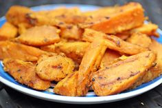 Grilled Sweet Potato Fries with Cinnamon and Maple | 5DollarDinners.com