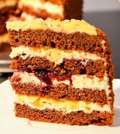 Tort cu blat de cacao crema cu mascarpone si visine - Agendautila Tiramisu, Gem, Ethnic Recipes, Party, Desserts, Food, Sweet, Homemade Cakes, Tailgate Desserts