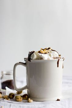 Mocha Nutella Hot Chocolate | This recipe couldn't be easier--just 3 ingredients!