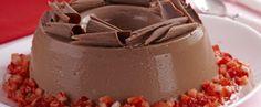 Receita de manjar de chocolate com morango