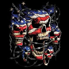 Patriotic Skulls ( dark's only )