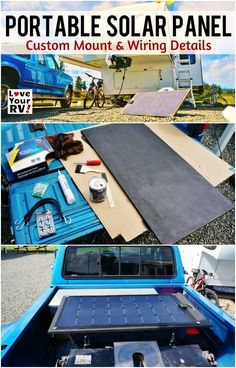 Building a Portable Solar Panel for my RV Boondocking adventures by the Love Your RV blog - http://www.loveyourrv.com/ #RVing #DIY #solar
