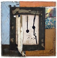 Crystal Neubauer Collage Mixed Media Abstract Fine Art Salvaged