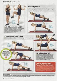 Tracy Anderson workout in @goodhealth magazine