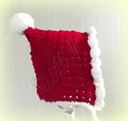 Ravelry: Baby Christmas Pixie Bonnet - Newborn to 3 years pattern by ag handmades