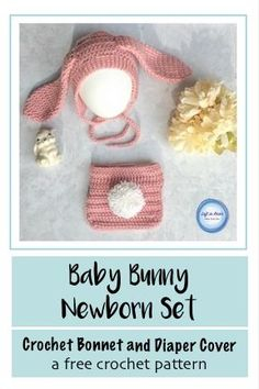 These two FREE crochet patterns can be combined to make an adorable newborn bunny outfit for Easter or as a photo prop! Made with worsted weight yarn, this modern pattern is perfect for anyone.