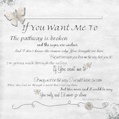 If You Want Me To by Ginny Owens - this song is so close to my heart... #digital scrapbooking