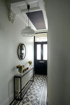 Entry Hallway Floor Hallway Tile Ideas Hall With Narrow Hallway Tiled Floor Narr. Entry Hallway Floor Hallway Tile Ideas Hall With Narrow Hallway Tiled Floor Narrow Hallway Home Ent Entrance Decor, House Entrance, Entryway Decor, Entryway Ideas, Entrance Halls, Flat Hallway Ideas, Entryway Stairs, Hall Way Decor, Tile Entryway