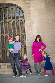 family pictures color palette: jewel tones: pink, emerald, sapphire and turquoise