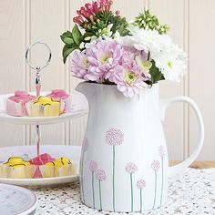 How to create a decorative jug. Add a personal touch to your kitchen and decorate a plain-white jug using Sharpie marker pens. This project takes next to no time and can be applied to other accessories, too. We used a fairly simplistic floral design but you could experiment with other motifs.