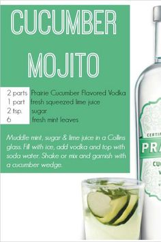 This Cucumber Mojito recipe IS the taste of summer!