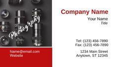 General Photography Business Cards #lens