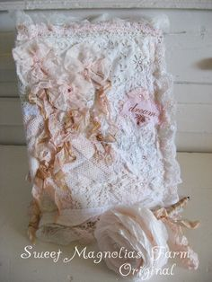 Romantic Lace Journal Shabby Tattered Pink Sold to a Good HOme
