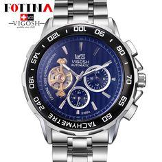 VIGOSH Original Flying Tourbillon Watches Luxury Brand Sport Sapphire Watch Men Mechanical Automatic Transparent Watch Gift