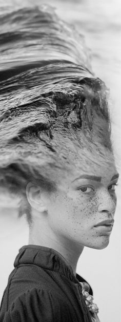 I didn't even notice the double exposure because I was too busy loving her freckles. #doubleexposure