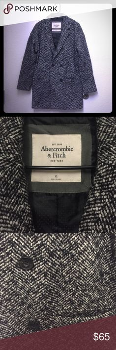 Abercrombie Fitch grey knot black coat Great style Abercrombie & Fitch Jackets & Coats