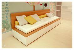 Mini cama para crianças gemeas que vira berço ou cama de babá.