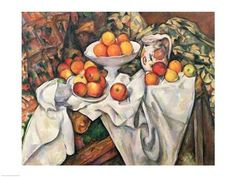 Apples and Oranges Poster Print by Paul Cezanne Food Art Fruit Apple Still Life Modern Orange Post Impressionist Bowl by Era 19th Century