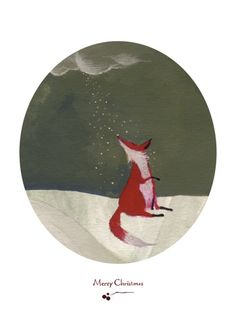 fox Christmas cards, several cool ones.