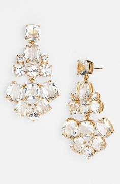 Navy and cream chandelier earrings by kate spade new york | Here ...