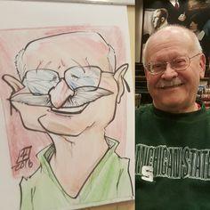 #caricature at #barnesandnoble  for there #batmanvsuperman day. #prismacolor #artstix #chartpak