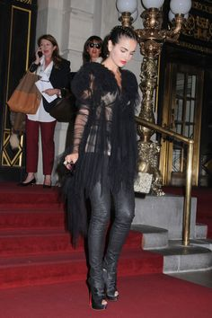 Camilla Belle attends the Marchesa Fashion show at The Plaza Hotel in New York