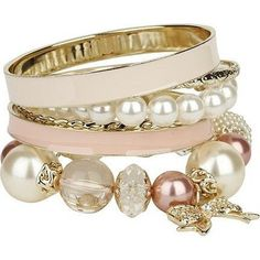 pearl, fashion, bracelets, accessori, enamel, pink, bangles, jewelri, arm candies