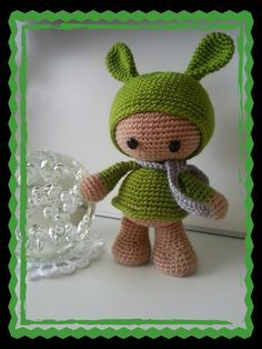 Teletubbies Knitting Pattern : Crocheted Teletubbies. Free pattern in Danish. Knitting / Crochet Toys Pi...