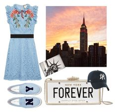 """""""Summers in Manhattan"""" by ellenfischerbeauty ❤ liked on Polyvore featuring Kate Spade, '47 Brand, Joshua's, Gucci, Newyork, NYC and gucci"""