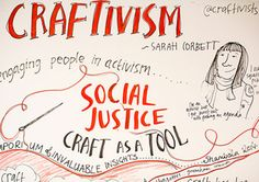 "Who is the Craftivist Collective? ""A true Craftivist uses craft as a tool for gentle activism aimed at influencing long-term change."" Founded 2009."