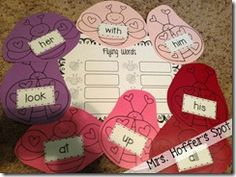 Flying Sight words- Love Bug centers