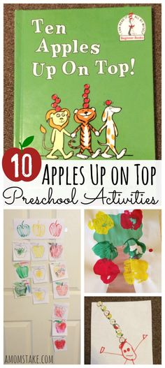 10 Apples Up on Top Preschool Activities - crafts, recipes, kids activities, and fun ideas for your prek or kindergarten child. Perfect for paring with a read-aloud of this Dr. Seuss classic. Plus, a free printable activity! via @amomstake