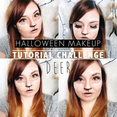 Halloween Make Up Tutorial Challenge: Deer | THERE YOU ARE SIBBY