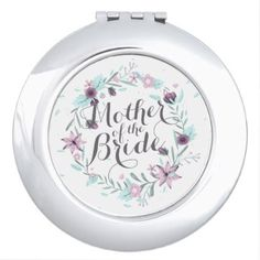 Mother of the Bride Floral Wedding Compact Mirror - floral style flower flowers stylish diy personalize
