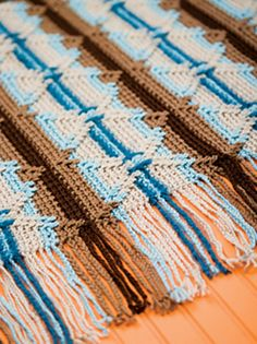 Another variation of the Navajo Indian Afghan.
