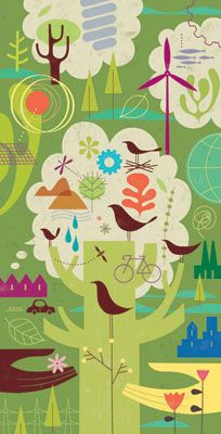 Earthday illustration by Tracy Walker