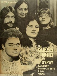the guess who | The Guess Who Poster from Honolulu International Center on 16 Oct 71 ...