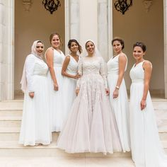 "178 Likes, 4 Comments - Aminah Sallam (@asallamii) on Instagram: ""7.2.17 | when you have the baddest crew 👸🏻👸🏻👸🏻 . . . . #yuminah #muslimwedding #hijabibride…"""