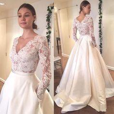 New White/Ivory pocket Wedding Dress Bridal Gown Custom Size:2 4 6 8 10 12 14 16  | eBay