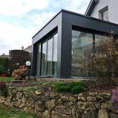 Extension Veranda, House Extension Design, Extension Designs, House Design, Single Storey Extension, Side Extension, Black House Exterior, Easy Wood Projects, Backyard Garden Design