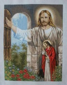 Joker Card, Cross Stitch Angels, Jesus Pictures, Autumn Trees, Close Image, Ikon, Coloring Pages, Embroidery, Painting