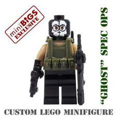 """Ghost"" Spec Ops Soldier - miniBIGS Custom Minifigure $16."