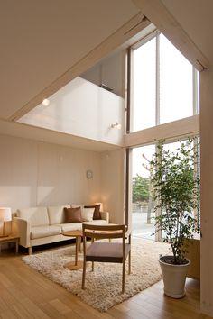High ceiling full glass window