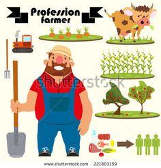 vector character retro style farmer - Google 검색
